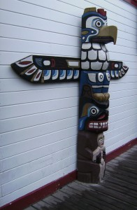 A powerful symbol of Alaska the totem pole conveys esoteric wisdom