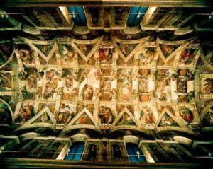Michelangelo's fresco on the Sistine Chapel ceiling