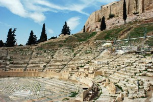 The magic of the theatre of dionysus, Athens, Greece