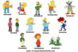 We think our personality makes us unique like these Simpson characters